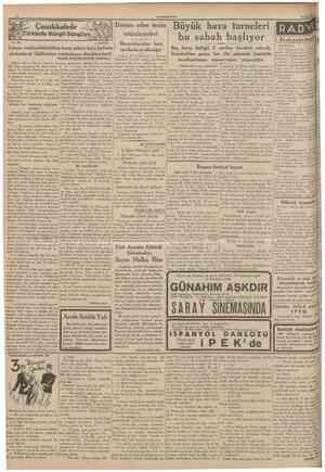 CUMHURİYET 11 Eylul 1935 Türklerle Süngü Süngüye No. 304 A. DAVER Çanakkalede Devam eden tecîm nıüzakereleri Macaristandan