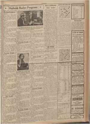 22 Eylul 1935 CUMHURÎYET Haftalık Radyo Programı C Bu akşamki program ÎSTANBUL: 12,30 hafif musiki ve dans musikisi 18,30...
