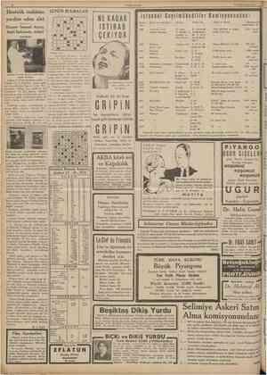 10 CUMHURİYET ! 13 Birinciteşrîn 1935 Hastahk teşhisine GÜNÜN BULMACASI yardım eden alet Doçent Samoel Aysoy keşfi hakkmda