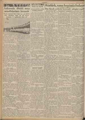 CUMHURİYET 22 Birinciteşrin 1935 Ankarada dünkü maçı misafirlerimiz kazandı Misafir hâkemin idare ettiği maç çok ihtilâflı