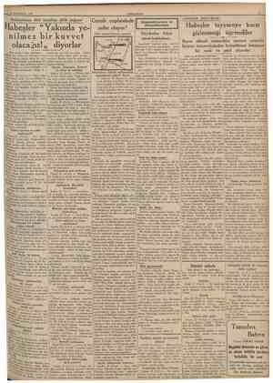 """23 Birînciteşrin 1935 CUMHURİYET Habeşistana dort taraftan silâh yağıyor Habeşler """"Yakmda yenilmez bir kuvvet olaca Jız! """""""