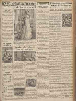 î l îkîncîteşrîn 1935 CTJMHURİYET Duymadıklarımız ve bilmediklerimiz ASKERLİK BAHISLERI Ev kadını Temizleme suyu, içme suyu