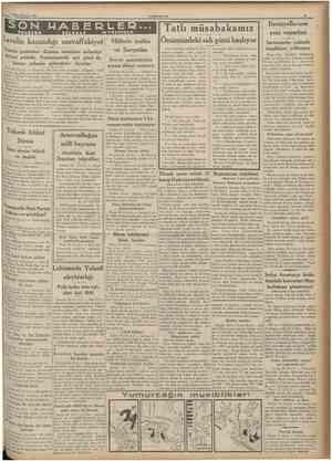 Birincikânun 1935 CUMHURÎYET SON TELCFON HABERLEP v* TCLSİZLE Tatlı müsabakamız önümüzdeki salı günü başlıyor Şeker bayramını
