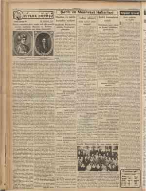 CUMHURtYET nazrran 1930 VIYANA DONUŞU Tarihî tefrika: 68 M. TURHAN TAN / // // tt Şehir ve Memleket Haberleri ) Siyasî icmal