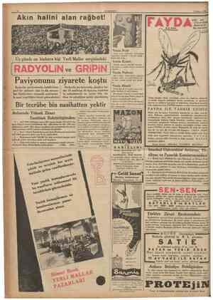 BUGUN 2 nci sahifede: Siyasî îcmal. 5 inci sahifede: İngilterenin sözünü dinlettıği devirde Berlin kongresinde ge çen bir...