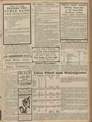 2fi Temıuuz 1936 CUMHUKtYET 1 Ankarada Askerî Baytar mektebine bu sene sivil lise mezunu olmak şartile 14 talebe kabul...