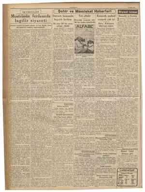 14 Eylul 1936 r İKTİBASLAR f Şehir ve Memleket Haberleri ) Darende kazasmda bağcıî'k ilerliyor *> Montrönün ferdasında...
