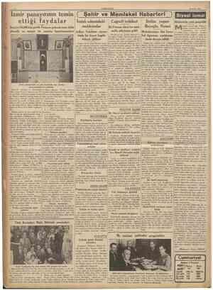 CUMHURİYET 25 E>lul 1936 mahkumlar Beyoâlu Noteri İki Fransız âlimi bu makSergiyi 364,000 kişi gezdi. Panayır gelecek sene