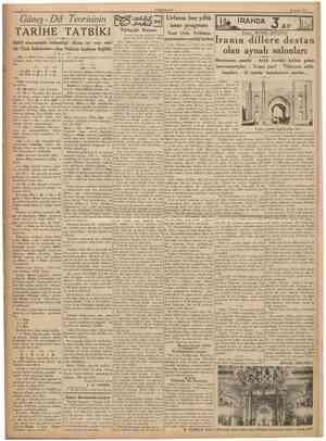 CUMHURİYET 28 Eylul 1936 GüneşDil Teorisinin TARİHE TATBİKI Babil efsanesinin bahsettiği «Kısıs ut ros» eski bir Türk...