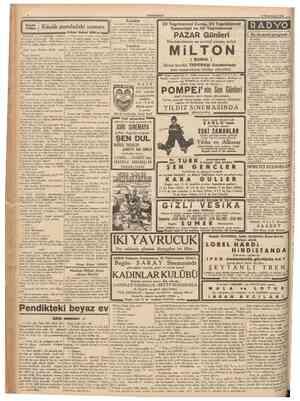 CUMHURIYET 18 Birlnciteşrin 1938 \ Teşekkür Küçük pusuladaki numara Kocasının o gün çıkardığı elbiseyi temizleyip...