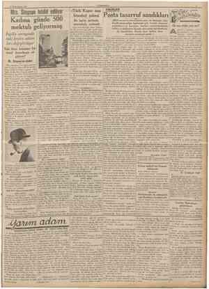 19 Birincikânun 1936 CUMHURtYET Mrs, Simpson tehdid ediliyor Kadına günde 500 mektub geliyormuş Ingiliz sarayında eskikralın