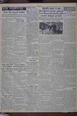 26 Şubat 181 SON HT Yeni bir s İngilterenin eski Habeş hi Salhiyettar mahfiller Negür'ün taç ven: Hiklerine daveti —...