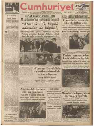 B K S ANKAPA Beynelmilel kömür sergisi « » , . iPic UllüÇUnCU jfll S3]fl! 4blO umhuri ATAT Pazar 21 Mart 1937 Yabancı gözile