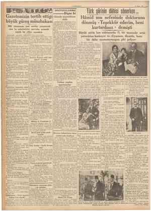 14 Nisan 1937 CUMHURtYET Kitablar arasında Ulu Şef Atatürk; Hâmide Başvekil Kr al Aleksandrbüyük cenaze merasimi ın mezar ına