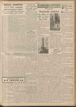 2 Mavas 193T CUMHURIYET EPEBİYAT HAREKETLERİ 19 3 7 Paris sergisinde edebiyat paviyonu açılıyor Son 37 sene zarfında dünya