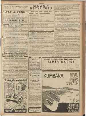 4 raayıs 1937 CUMHURIYET İNKIBAZI, HAZIMSIZLIGI, MİDE EKŞIL1K VE YANMALARINI AZ ON EYVA TUZU Kapalı Zarf Usulile Eksiltme...