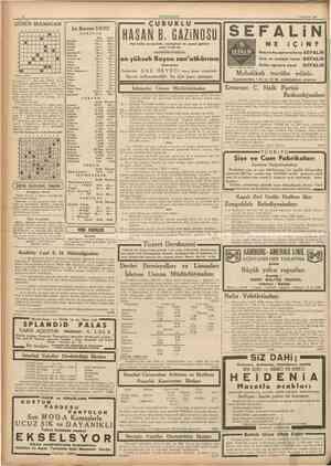 CUMHURİYET 4 Hazirah 1937 GÜNÜN BULMACAS1 1 2 3 4 5 6 7 1 2 S A 5 6 1 8 i I B ! • B 1 • 1 B B B 8 9 10 İst. Borsası 3/6/937