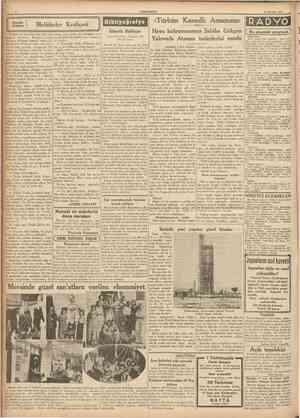 CUMHURİYET 23 Haziran 1937 Küçük hikâye Melâikeler Kraliçesi lardan birçok kadm tipi resmigeçid ya pıp da Şekib hiç birinde