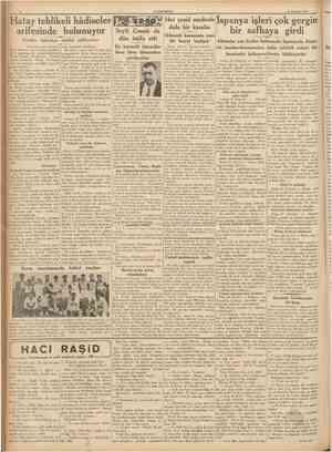 CUMHURİYET 23 Haziran 1931» Hatay tehlikeli hâdiseler arif esinde bulunuyor Türhler küstcıhça tehdid ediliyorlar IBaştarafı 1