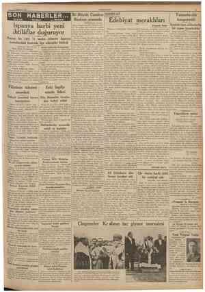 11 Tıpmtvtfiz 1937 CUMHURÎYET SON HABERLER TELEFON TELGRAF • •• v« TELSiZLE İki Büyük Cumhur EDEBIYAT Başkanı arasında...