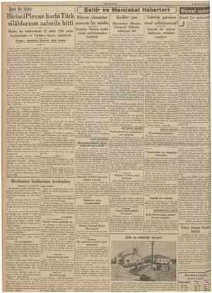 CUMHURİYET 25 Temmuz 1937 Birinci Plevne harbi Türk Rüşvet almaktan silâhlarının zaferile bitti maznun bir müdür Yazan :...