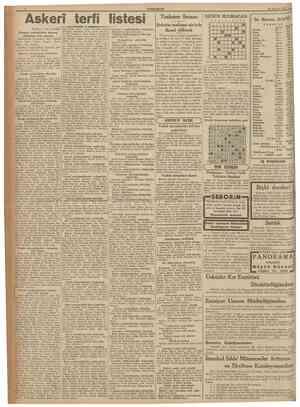 CUMHURÎYET f§ Ağgstos 1937 Askerî terfi listesi IBaştarafı 1 inci sahifedc] Trabzon limanı Şirketin tasfiyesi sür'atle ikmal
