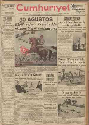 Faruk Şukrü 4 üncüde: Hikâye: Alinin güneşi Hamdi Varoğlu 5 incide : 30 Ağustos Abidin Daver Bilinmesi lâzun hakikat Hıkmet