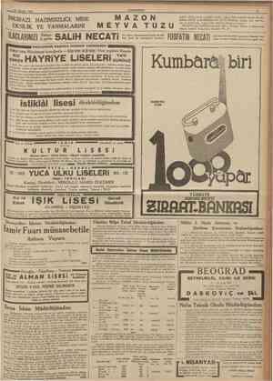 30 vAsustos 1937 CUMHURİYET 11 giderir. Hiçbir zararlı ve roüshil maddesi yoktur. Şeker hastahğı olanlaı bile alabilirler.