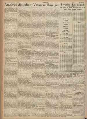 CUMHURÎYET 12 Kylul 1937 Atatürkü dinlerken: Vaian ve Hürriyet {Baştaraft 1 inci sahUede) îki arkadaş atlanna biniyorlar,...