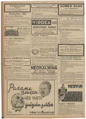 10 23 Eylui 1937 Cumhuriyet Matbaası Son sistem makinelerle mücehhezdir. En tnutena işler Için her zatoan sipariş kabul eder.