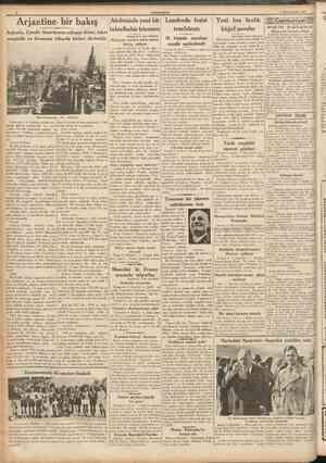 CUMHURÎTET 5 Birincitesrin 1937 Arjantine bir bakış I (Bastaraîı 1 ind sahlfede) Dört köşesinde madalyaların içinde ve...