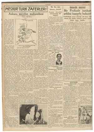 CUMHURtTET 12 Birlneiteşrln 1937 MESHUR 7URK ZAFERLERi Ankara meydan muharebesi Yazan: Celâl Dincer 3 Bunlar Osmanh ordusu