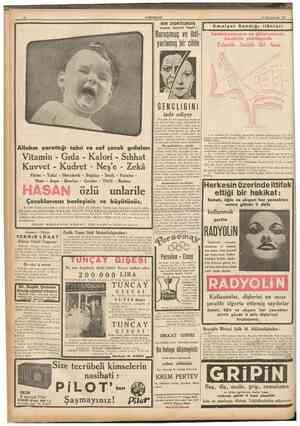 12 CUMHURIYET 15 Birîncitesrin 1937 I Buruşmuş ye ihtiyarlamış bir cilde şayanı hayret keşfi: DOKTORUN L Emniyet Sandığı...