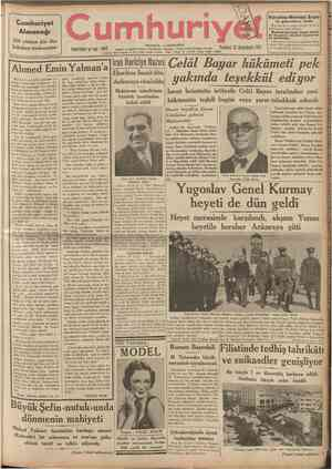 Cumhuriyet Almanağı 1938 nüshası için ilân kabulüne başlanmıştır yil umhuriy .' 4832 Telgraf ve mektub adıed: cumhurlyet,...