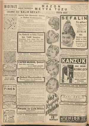 CUMHURfYEl 8 fkincitesrin 1937 Hazımsızlığı, Mide Ekşilik ve Yanmalan giderir. Inkıbazı defeder. Bugünden bir şişe MAZON...