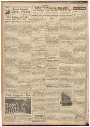 CUMHURİYET 9 İkinciteşrin 1937 Osmanlı Rasputini Tarihî tefrika : 80 Yazan : M. Turhan Tan Ç Şehlr ve Memleket Haberleri J