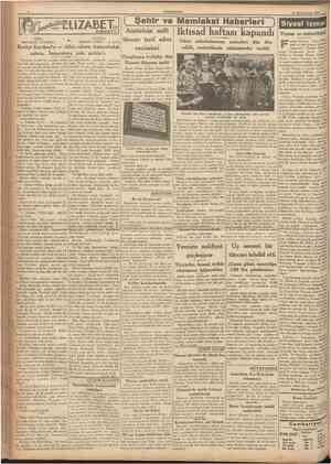 CUMHURfYET 19 Birincikânun 193T m Î7ABET HAVATI Yazan: Çevirenler: 6 ( Şehir ve Memleket Haberieri ) Atatürkün millî tüccarı