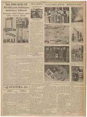 2 tkincikânun 1938 CUMHURİYET Toprak altından oikanlan tarih Afrodisyasm muhteşem medeniyet bakiyesi Karacasuda yapıian...