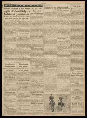 27 Şubat 1938 CUMHURİYET MUSAHABE Hâdıseier arasınaa ingilteredeki müzakerefer ve Mısır meseles Ingiliz hükumeti Italyaya...