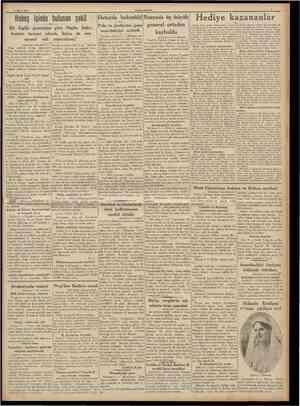 5 Mart 1938 CUMHURİYET Geçen ayın çocuk bilmeceslnde boyan teı Erhon, Kartal Yakacıfe ilk okulunda 194 ması lâzım gelen...