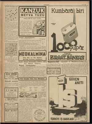 CUMHURİYET 7 Mart 1938 GUNUN BULMACAS1 1 1 2 3 4 5 6 1 8 9 10 11 2 3 4 5 e B B 1 1 • B 1 7 8 10 11 B • • • B • B B • B B B 1