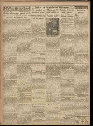 CUMHURİYET 9 Mart 1938 { Şehir ve Memleket Haberleri ) Tarihi romant 2 8 Yazan: M. TURHAN TAN imdi Avrupa politikasında, ea