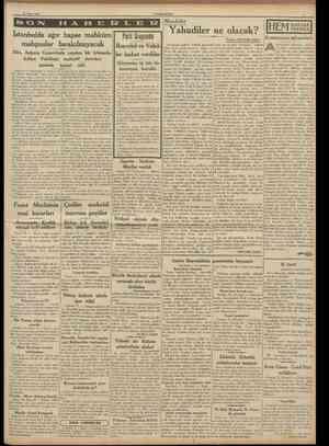 16 Mart 1938 CUMHURİYET Meseleler îstanbulda ağır hapse mahkum Parti Grupunda mahpuslar bırakılmıyacak Başvekil ve VekilDün,