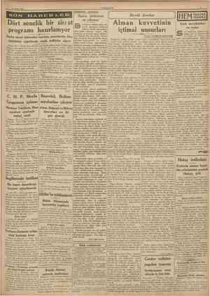 21 Nisan 1938 CUMHURİVET Hâdiseler arasında on zamanlarda, İstanbula bazî meşhur garb san'atkârlan geliYazan: FLORİAN DELHARB