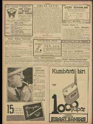 10 CUMHURİYET 8 Mavıs 1938 1TTTT3TT Q T Q T I ? M Yeni KontrPlâk Ltd. Şirketi EMLAK SATIŞI İstanbul Emniyet Sandığı...