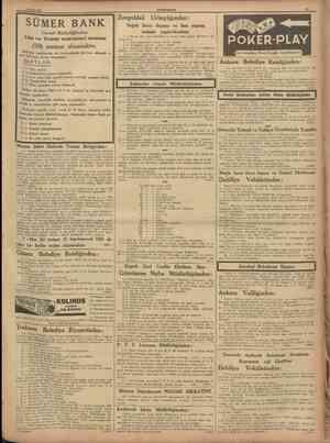 r 10 Mayıs 1938 CUMHURlTET Ü SÜMER BANK Umumî Müdürlüğünden: Lise ve Ticaret mektebleri mezunu Zonguldak Urbaylığından: Soğuk