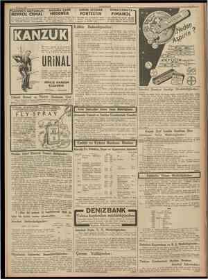"""12 Mayıs 1938 CUMHURİYET """" NEVROL CEMAL den 20 damla ile geçer. Bu emsalsiz sinir ilâcını kullanmıyan, sevmiyen yokEvinizde"""