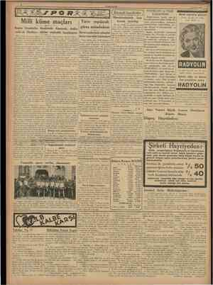 CUMHURÎYET 21 Mayıs 1938 [ tktısadî hareketler J HEYECAN ve NEŞE YARATMAK Doktorlarımız tasdik eder ki, hastalıklarımızın...