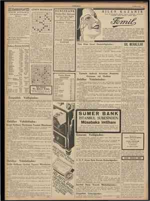 CUMHURİYET 25 Mayıs 1938 Cumhuriyet IHI <B II i& s u *t u FÛ uı Fatih Belediyesinin nazarı dikkatine GÜNÜN BULMACAS1 1 2 3 4