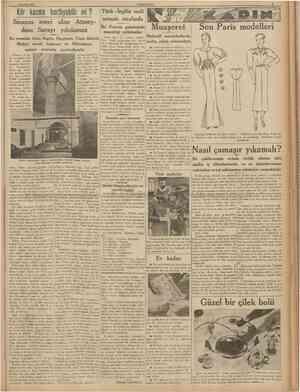5 Haziran 1938 CUMHURÎYET Kör kazma hortlıyabilir mi ? Sinanın eseri olan Atmeydanı Sarayı yıkılamaz Bu emsalsiz bina, bugün,